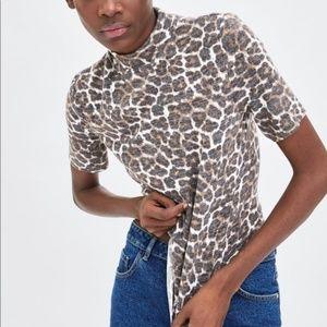 Zara Soft Touch Mock Neck T-shirt 241/n